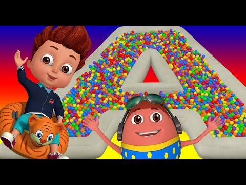 The ABC Song Ball Pit Fun Show for Kids to Learn ALPHABETS ChuChu TV Funzone 3D for Children