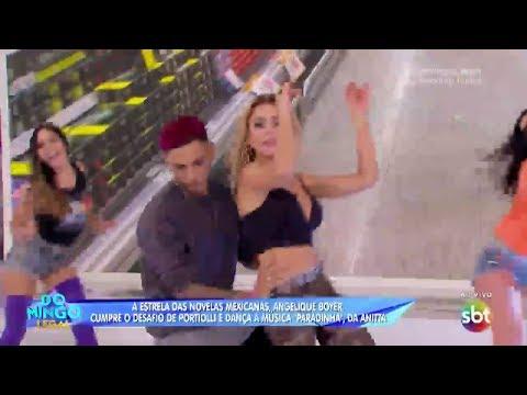 Domingo Legal - Angelique Boyer dança Paradinha da Anitta SBT