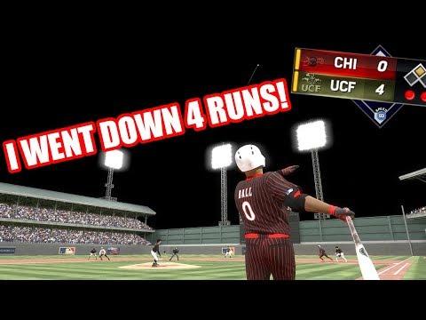 I WENT DOWN 4 RUNS LAVAR BALL HUGE HOME RUN - MLB The Show 17 Diamond Dynasty Gameplay