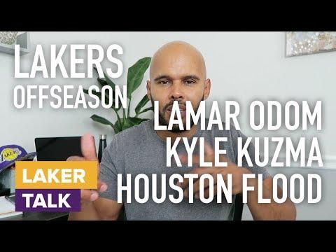 Lamar Odom Kyle Kuzma Ball Family Reality Show and Houston Flood LakerTalk