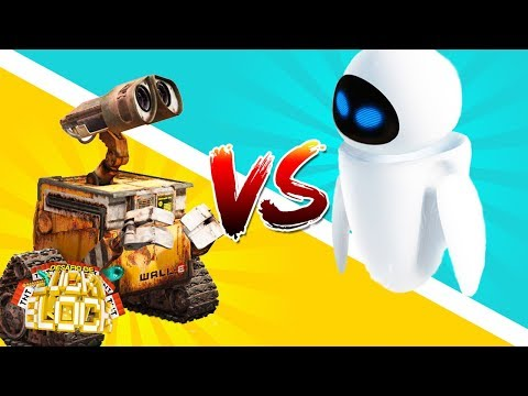 WALL-E vs EVA - Desafio de Lucky Block