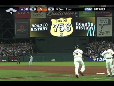 Bonds breaks Aaron's record with No 756