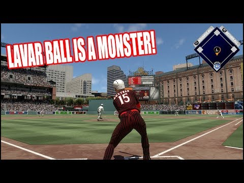 LAVAR BALL IS A MONSTER - MLB The Show 17 Diamond Dynasty Gameplay