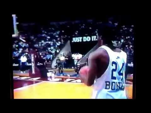 Barry Bonds vs Deion Sanders Foot Locker dunk contest 1992 Slam Fest dunking