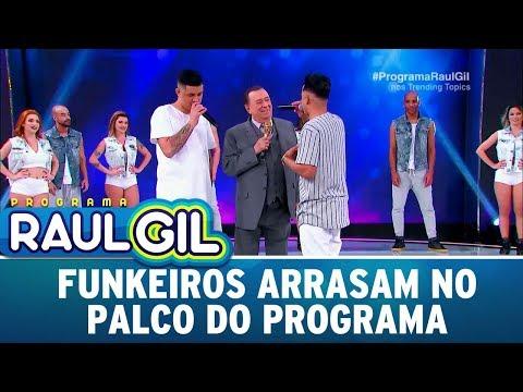 Funkeiros cantam sucessos e arrasam Programa Raul Gil 23 09 17