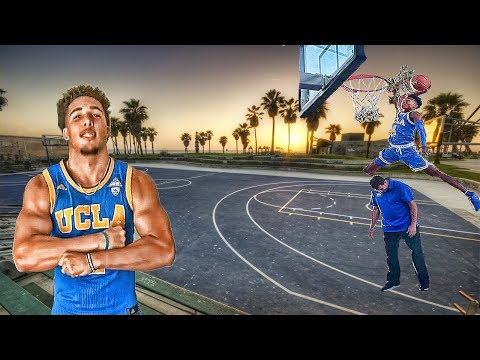LIANGELO BALL X JAYLEN HANDS Show out at UCLA Under Armour open practice at Venice Beach