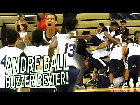 Ball Family Show ISN'T OVER AT CHINO Andre Ball FADEAWAY BUZZER BEATER In OVERTIME vs CATHEDRAL