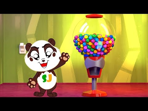 Gumball Machine Ball Pit Show to Learn Colors - Panda Bo Bad Baby Compilation