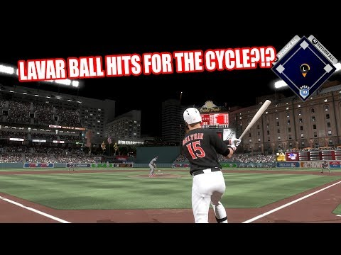 LAVAR BALL HITS FOR THE CYCLE - MLB The Show 17 Diamond Dynasty Gameplay