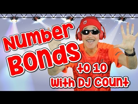 I Know My Number Bonds with DJ Count Number Bonds to 10 Addition Song for Kids Jack Hartmann