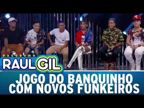 Jogo do Banquinho com novos Funkeiros Programa Raul Gil 11 03 17