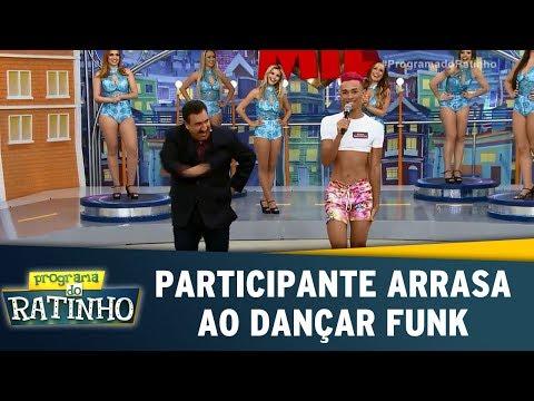 Participante arrasa ao dançar funk Programa do Ratinho 17 07 17