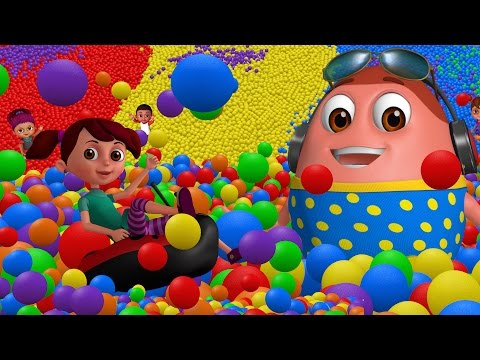 Learn Colours Alphabets & Numbers Surprise Eggs Ball Pit Show for Kids ChuChu TV Funzone 3D
