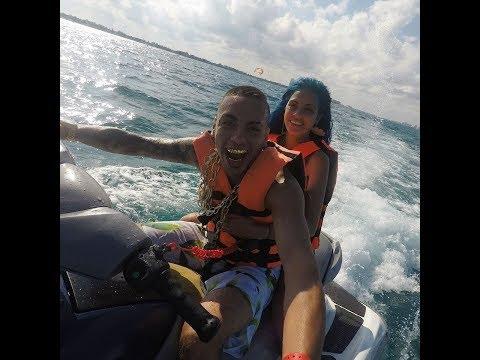 Tati Zaqui e MC Kauan em Cancún - Dia 02 Biquíni Piscina e Comendo muito