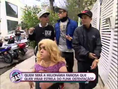 O Melhor do Brasil Rodrigo Faro ajuda Val Marchiori a virar funkeira 18 08 2013