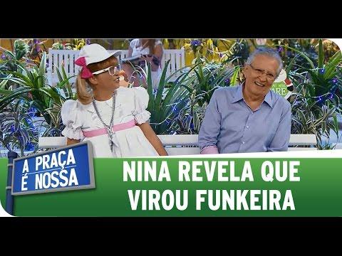 A Praça é Nossa 01 01 15 - Nina revela que virou funkeira