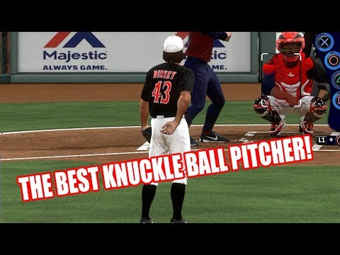 USING THE BEST KNUCKLE BALL PITCHER IN THE GAME - MLB The Show 17 Diamond Dynasty Gameplay