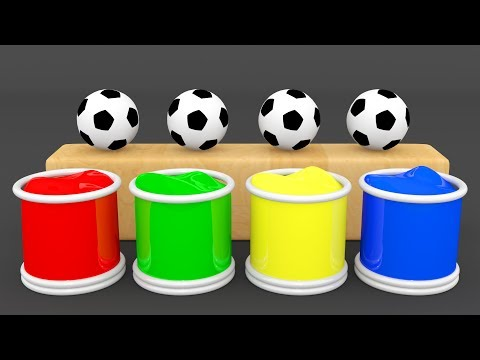 Learn Colors With Surprise Eggs Soccer Balls - Soccer Ball Pit Show Nursery Rhymes Color Song