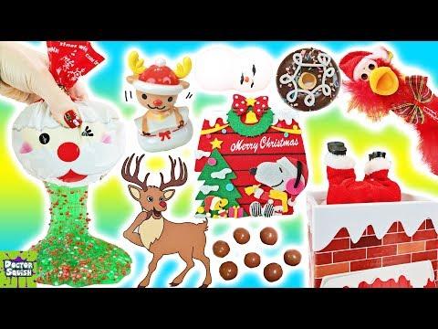 BIG Christmas Show Santa Slime Stress Ball Christmas Squishies Doctor Squish