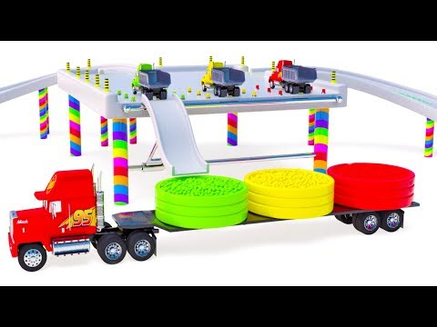 Baby Ball Pit Show Mack Truck for Kids Children Learn Colors Baby Ball Pit Show Educational Videos