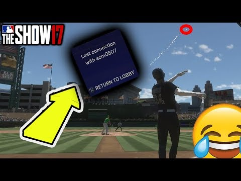 He Rage Quit before the ball even landed LOL MLB The Show 17 Battle Royale Gyvi Draft