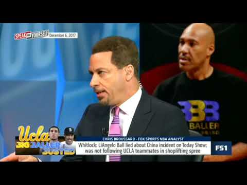 LiAngelo Ball lied about China incident on Today Show Speak for Yourself