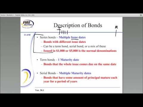 Series 7 Exam Prep Tutorial - Municipal Bonds