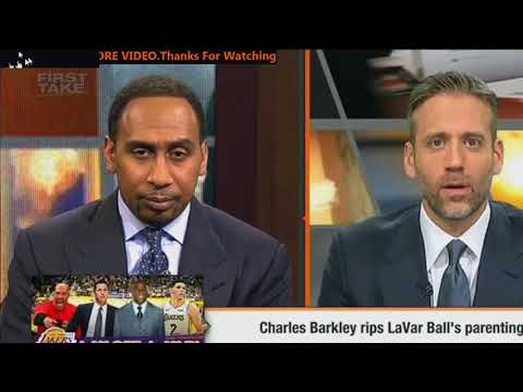 Stephen A Smith reacts to Charles Barkley rips LaVar Ball's parenting