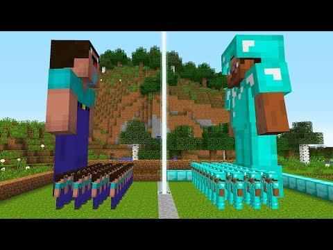 EXERCITO DE NOOB VS EXERCITO DE PRO NO MINECRAFT NUNCA DUVIDE DO MAIS FRACO