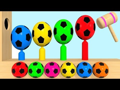 Learn Colors With Surprise Eggs Soccer Balls Soccer Ball Pit Show