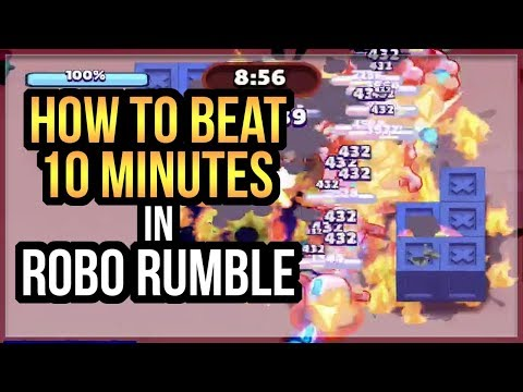 How To Beat 10 Minutes on Robo Rumble Pachinko Park 1 Time in World on Robot Rumble Brawl Stars