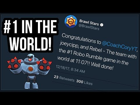 1 in Robo Rumble in the World Best Time in Pachinko Park Brawl Stars
