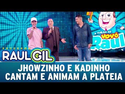 Jhowzinho e Kadinho cantam e animam a plateia Programa Raul Gil 16 12 17