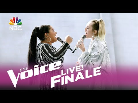 The Voice 2017 Brooke Simpson and Miley Cyrus - Finale Wrecking Ball