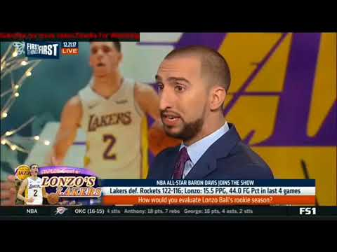 Baron Davis -How would you evalute Lonzo Ball's rookie season