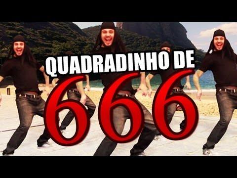 Quadradinho de 666 - Bonde do Capeta Versão Metal Quadradinho de 8