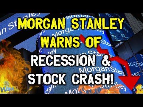 Morgan Stanley WARNS Of Coming Recession & Stock CRASH - Sells All Junk Bonds