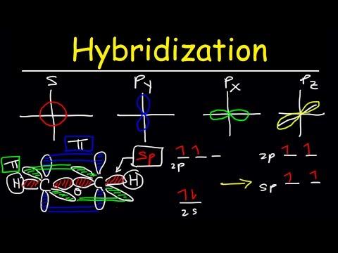 Hybridization of Atomic Orbitals Sigma and Pi Bonds Sp Sp2 Sp3 Organic Chemistry Bonding