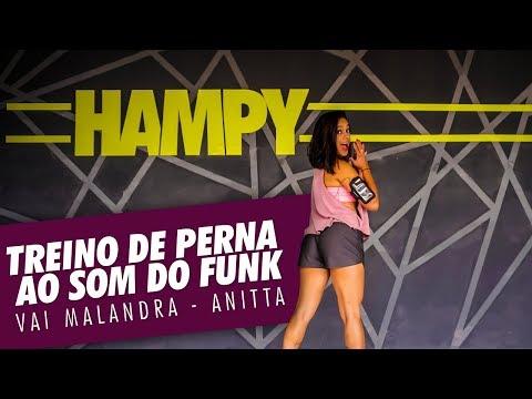 Treino de perna ao som do Funk - Vai Malandra - Anitta