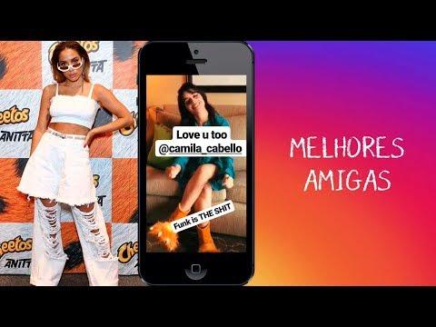 Camila Cabello canta 'Vai Malandra' e Anitta responde 'Te amo' Veja vídeo