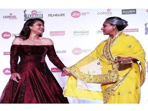 KAJOL BONDS WITH JAYA BACHCHAN AT FILMFARE AWARDS 2018