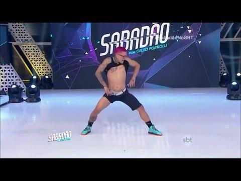 Sabadao com Celso Portiolli O melhor dançarino de funk do Brasil 28 11 15