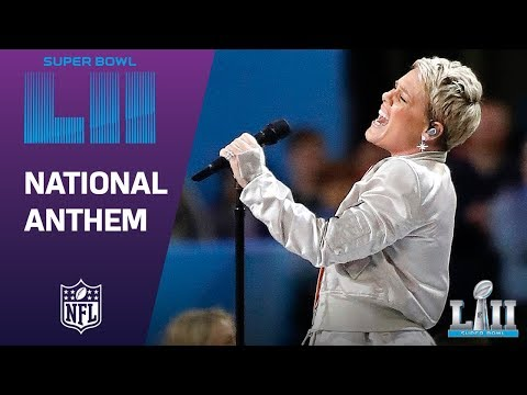 Pink Belts Out the National Anthem Super Bowl LII NFL Pregame