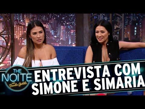 Entrevista com Simone e Simaria The Noite 23 08 17