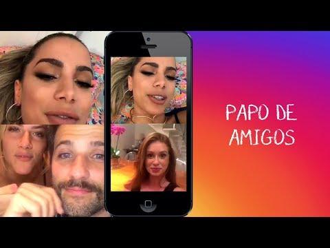 Anitta faz live com Bruno Gagliasso Gioh e Marina Ruy Barbosa