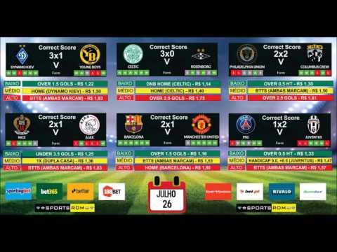 Palpites de Futebol 26 07 17 - Bet365 Betfair 188Bet SportingBet Betboo Bumbet Bet PT Rivalo