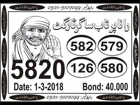 Prize bond 40000 city Lahore VIP open akra 1-3-2018