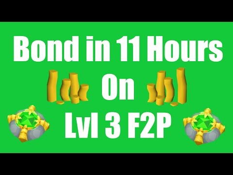 OSRS Bond in 11 Hours on a New Level 3 F2P Account - Oldschool Runescape Money Making Guide