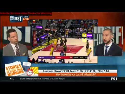 Lakers Def Hawks-How impressive was Lonzo Ball last night