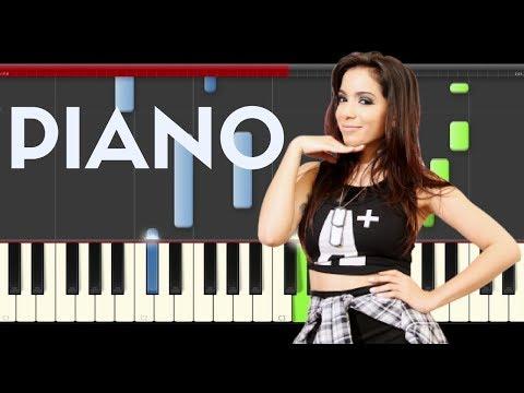 Anitta Paradinha Piano Midi tutorial Sheet app Cover Karaoke